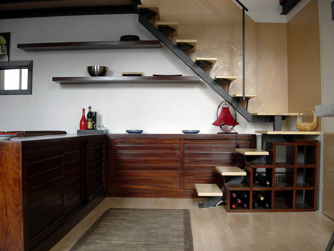 Soppalchi in legno e scale in legno milano creo casa milano for Idee scale per soppalchi
