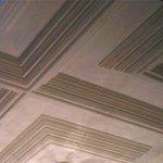 soffitto in legno a cassettone laccato manuale a Milano