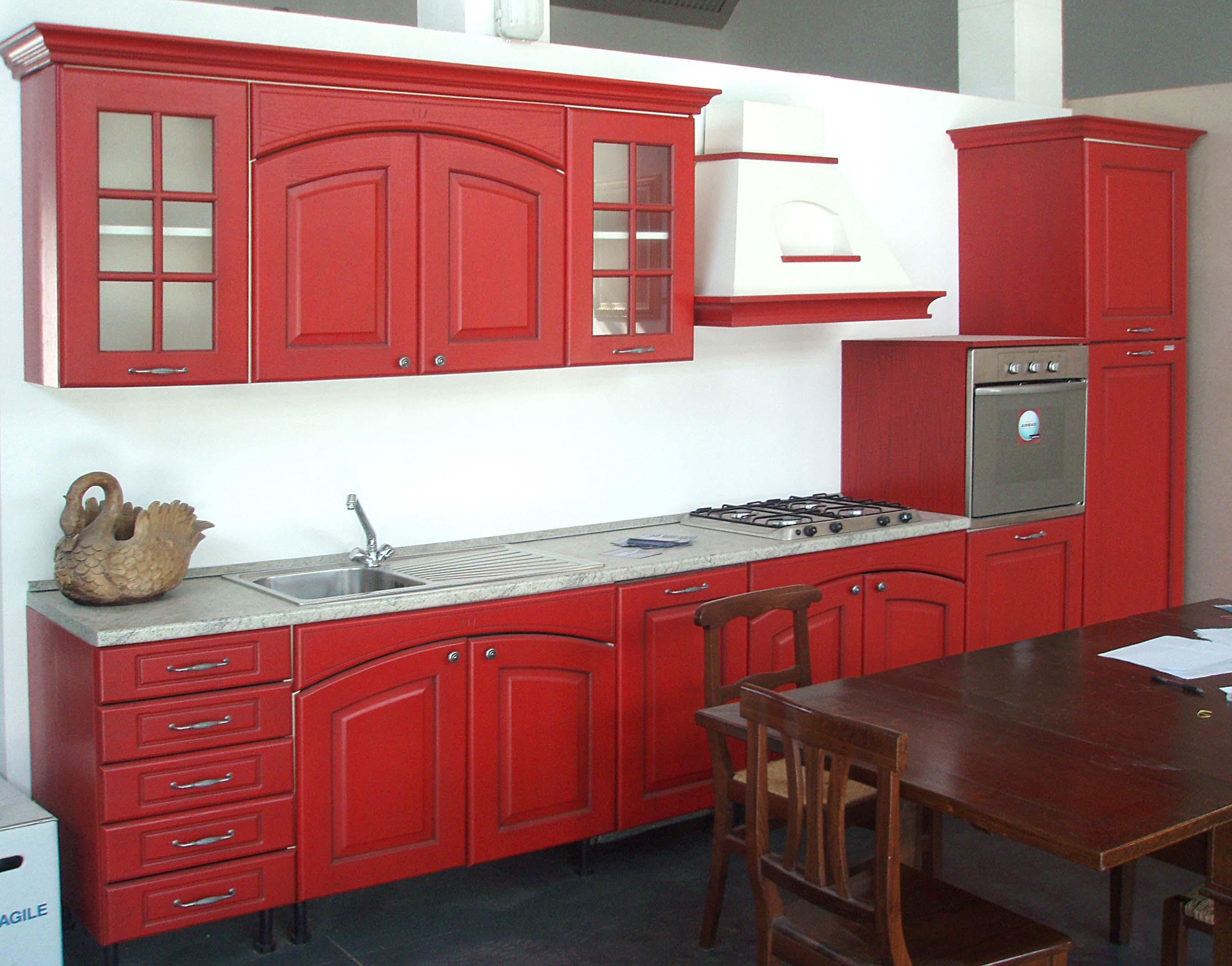 cucina rosso bulgaro