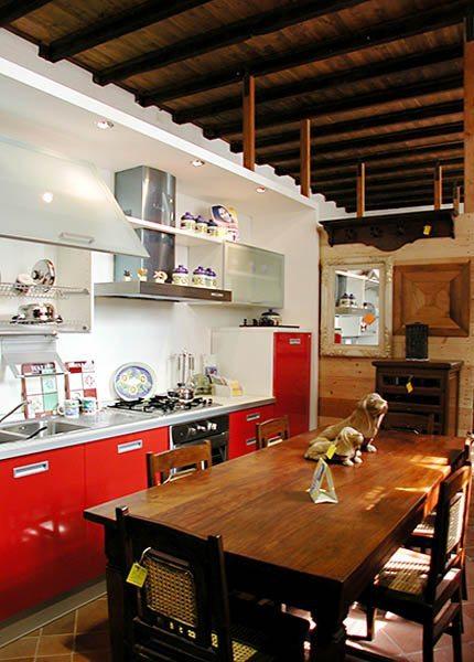cucina rossa moderna