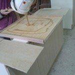 piano in multistrato fenolico con bordo legno