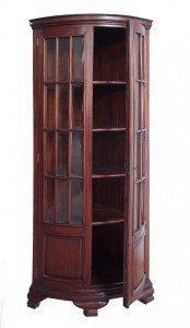 Vetrina occasioni:vetrina angolare in massello di mogano, stile inglese
