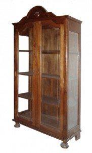 vetrina classica anta doppia legno massello