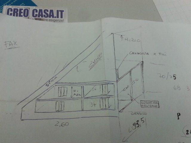 MOBILE SU MISURA SOTTOSCALA IN UFFICIO PROGETTI
