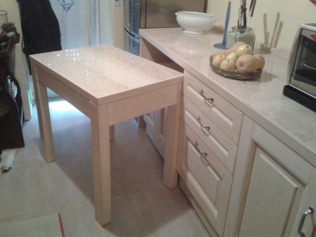 tavolo in legno massello da mettere sotto-piano