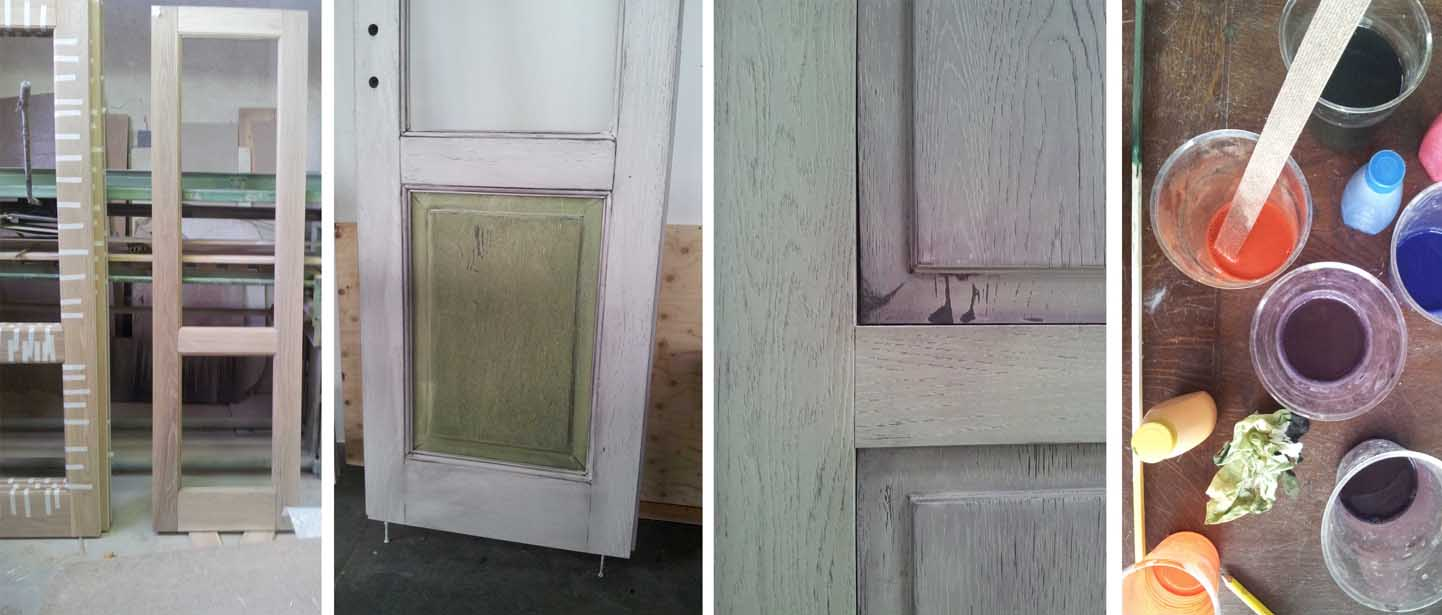 Porte interne anticate in legno massello creo casa milano - Finestra interna per bagno cieco ...