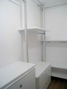cabina armadio con parete in curva