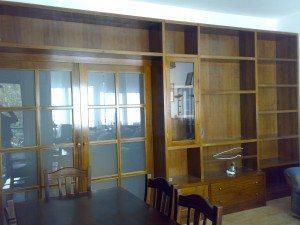 libreria con scaletta in massello