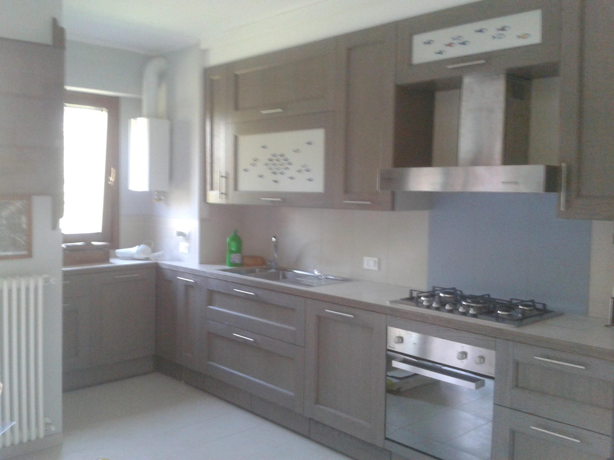 cucina in rovere grigio