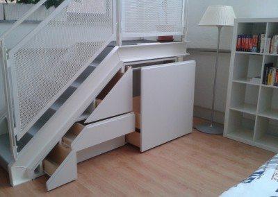 mobile scala laccato bianco opaco
