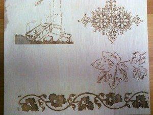 aglio laser in officina meccanica del legno a opera