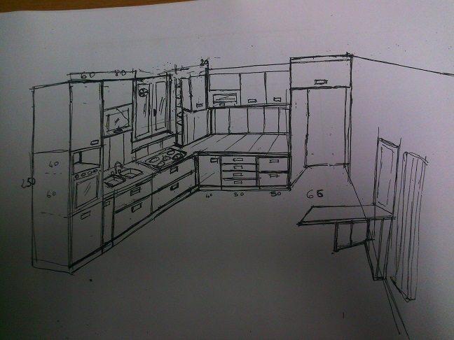 Cucina nell' angolo colonna lavastoviglie-forno
