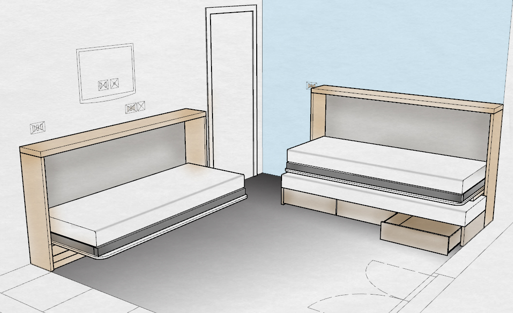 mobili trasformabili: letti, divani, tavoli, stendini mobili salvaspazio