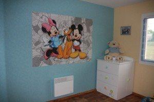 Minnie e Mickey in stanza di bambini
