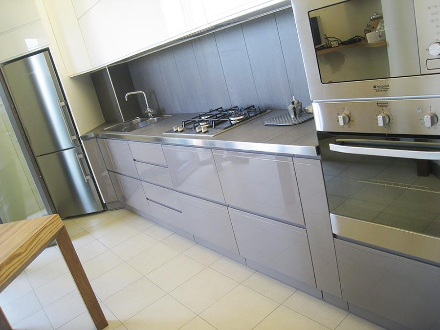 Cucina laccata lucida moderna, Creo Casa Milano,Cucine su misura lucide