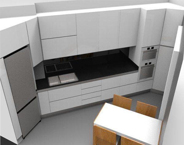 Cucina su progetto Milano immagine
