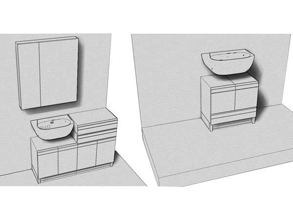 mobili lavabo su misura