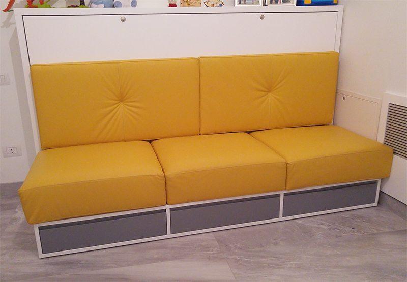 divani su progetto con cassetti