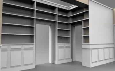 Libreria attorno porte, boiserie