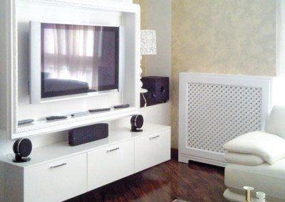 parete-attrezzata-soggiorno-milano in falegnameria da
