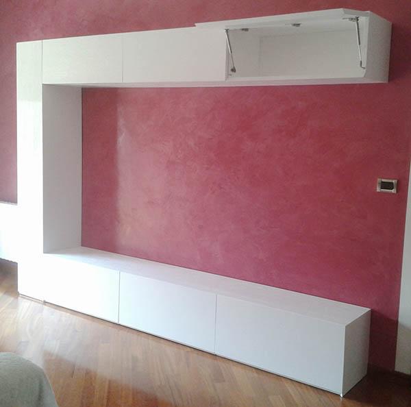 parete soggiorno minimalista