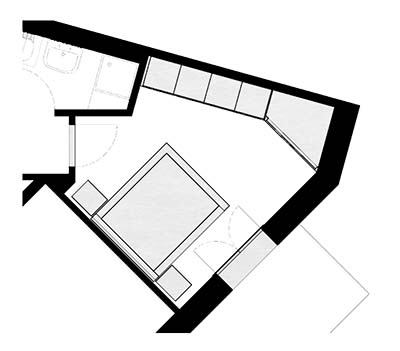 armadio ad angolo con cabina milano
