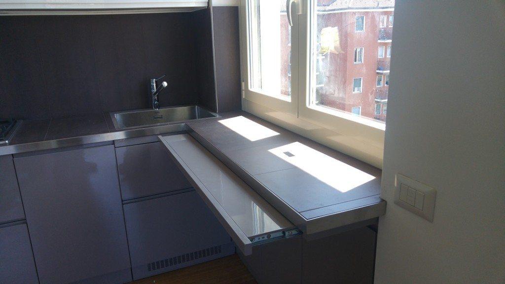 piano estraibile in cucina