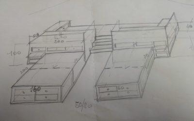 Quattro letti in  mansarda